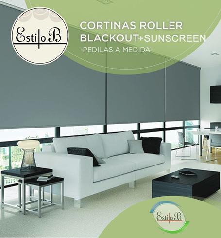 Sistema de cortinas roller dobles